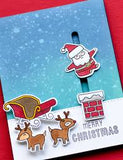 Dashing with Reindeer clear stamp set