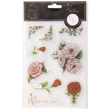 Roses are Red Papermania Clear Stamps