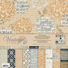 Vintage finds 12 x 12 Paper pack - Teresa Collins