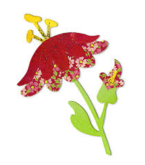 Sizzix Bigz Die - Flower w/Leaves & Stem #4