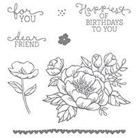 Floral Birthday  Stamp Set