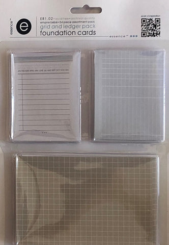Empire Bebe Foundation Cards -  Grid and Ledger Pack