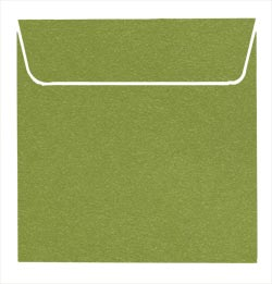 Pack of 10 Square Metallic envelopes 150mm x 150mm - Cristina Re