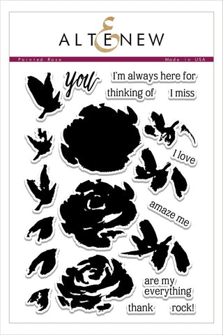 Painted Rose Stamp Set