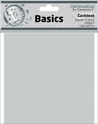 140mm x 140mm Square Card Bases, 250gsm - Silver Grey - pack of 10
