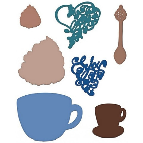 Heartfelt Creations Coffee talk Die Set