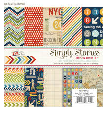 Urban Traveller  6 x 6 Paper Pad by Simple Stories