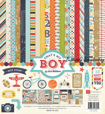 "That's My Boy - Echo Park Collection Kit 12""X12"""