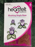 Blushing Single Rose Stamp and Die Combo Heartfelt Creations