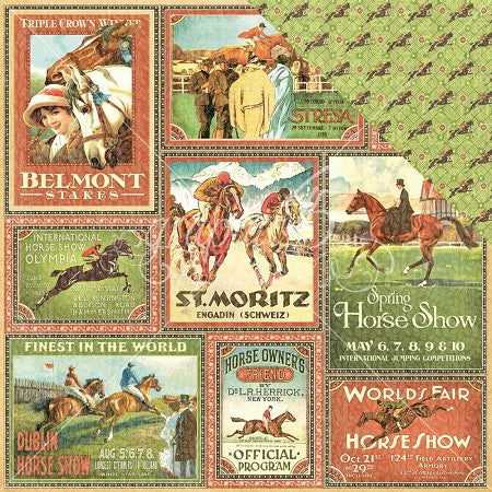 Graphic 45 -Belmont Stakes -Off to the Races Collection