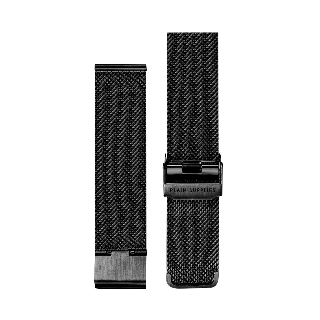 Stainless Steel Mesh Strap – Black