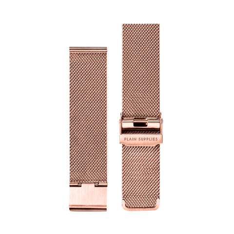 Stainless Steel Mesh Strap – Rose Gold