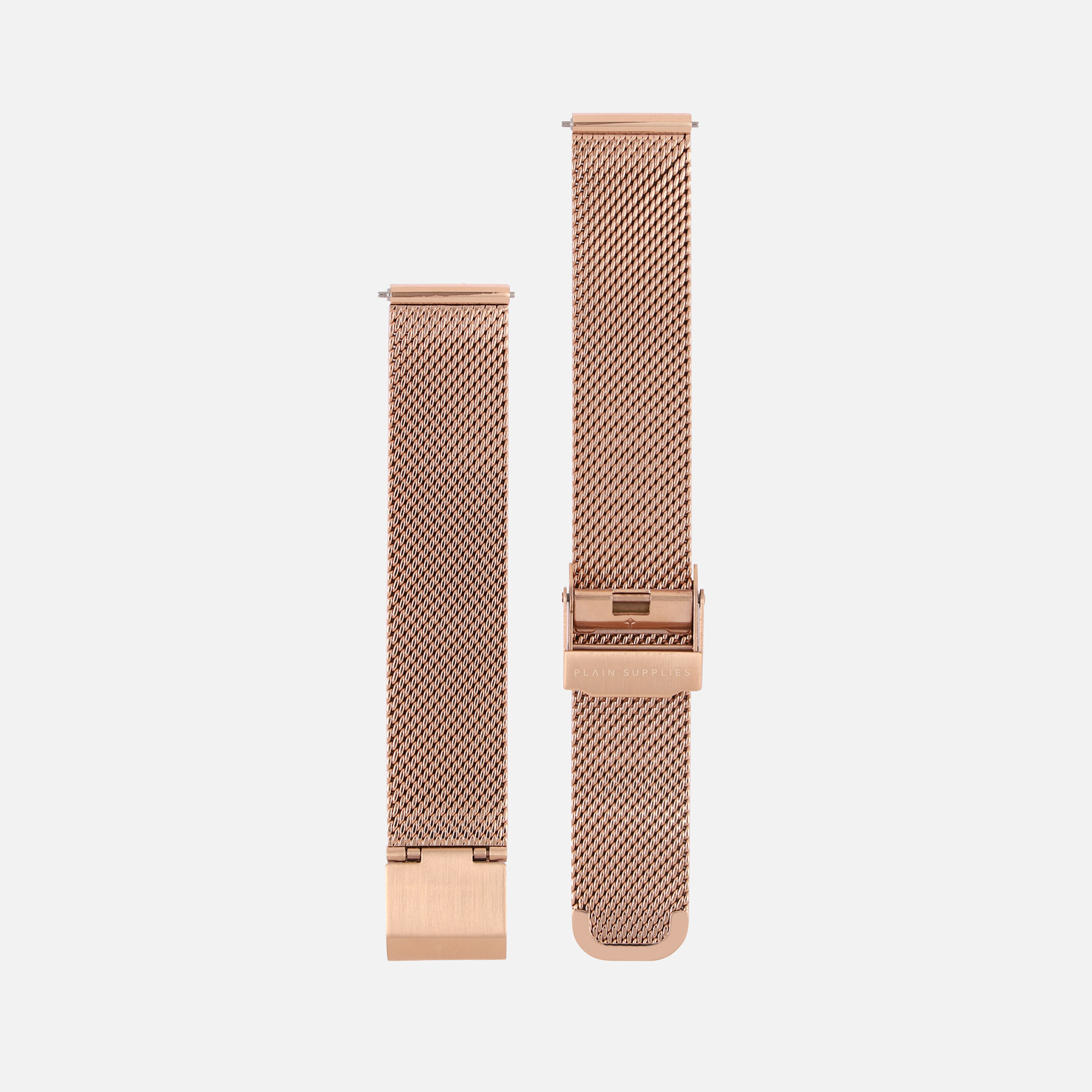 16/18/20mm Stainless Steel Mesh - Rose Gold
