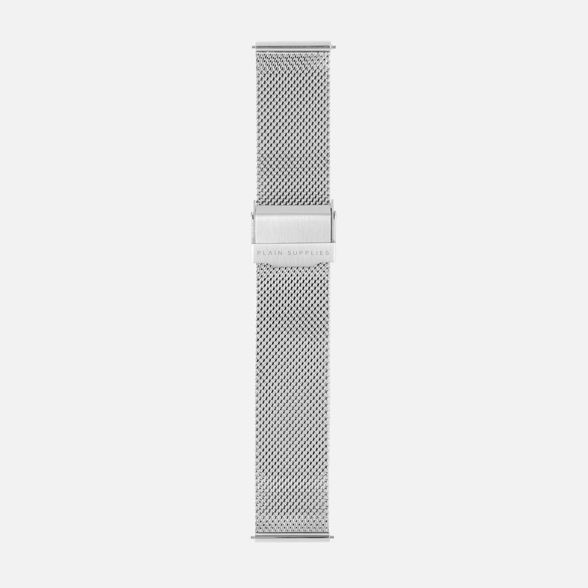 16/18/20mm Stainless Steel Mesh - Silver