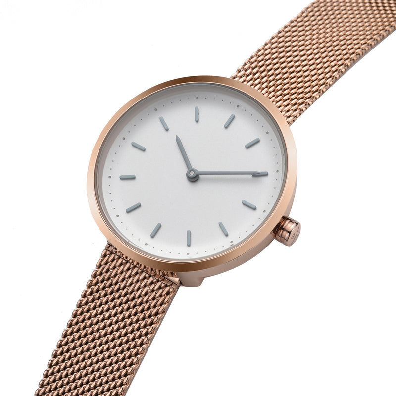 Conc 33 – Rose Gold Stainless Steel Mesh