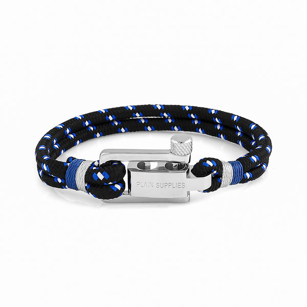 U-Lock Black Rope Bracelet