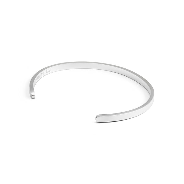 Silver Brushed - Stainless Steel Cuff