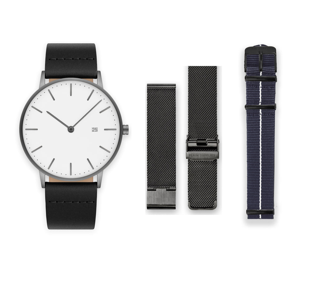 horse products all leather new plain the watch watches original matte black arrivals