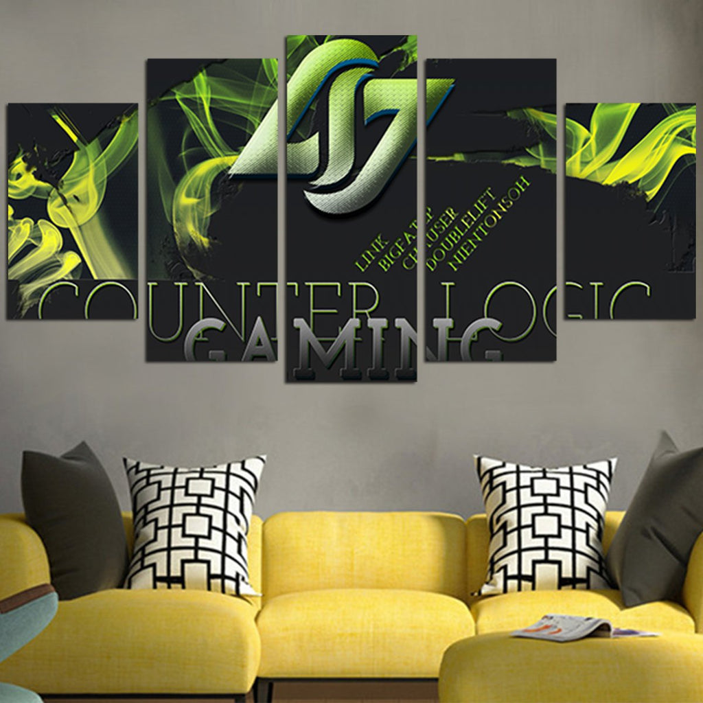 ... Green Counter Logic Gaming Wall Art Canvas & Green Counter Logic Gaming Wall Art Canvas u2013 AIO Tee