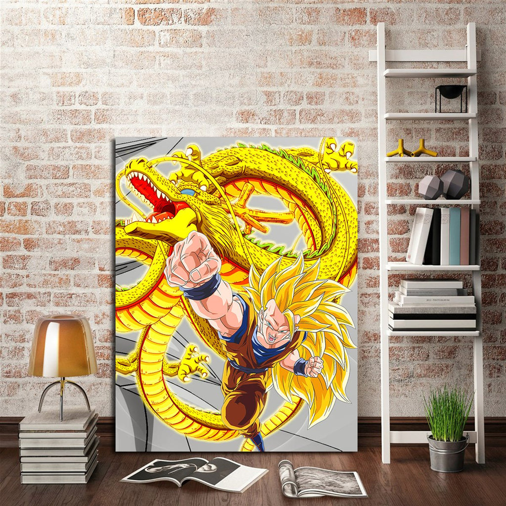 1 Panel Goku And Super Shenron Wall Art Canvas – AIO Tee