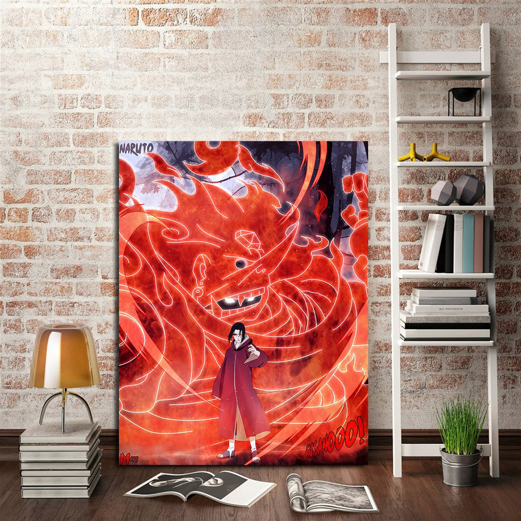 1 panel itachi susanoo wall art canvas aio tee