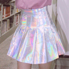 Space Cat Shirts - Holographic Rainbow Pleated Aesthetic Skirt NEW 2018 - aesthetic clothing