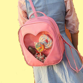 Heart Shaped School Aesthetic Backpack Shoulder Bags