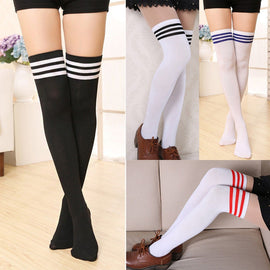 Space Cat Shirts - Over The Knee Socks Striped Aesthetic Long Stockings - aesthetic clothing