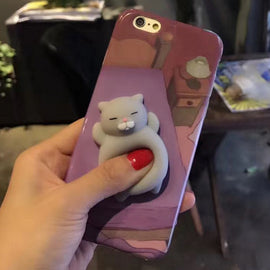 Space Cat Shirts - Cute Case Squishy Sleeping AesthetiCat Soft Phone Cover for iPhone & Samsung - aesthetic clothing