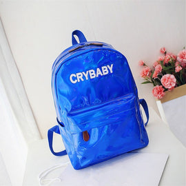 Embroidery Crybaby Hologram Laser Backpack