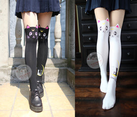 Space Cat Shirts - New Sailor Moon Luna Artemis Aesthetic Stockings - aesthetic clothing