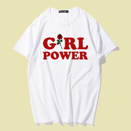 Rose Girl Power Best friends Aesthetic T shirt