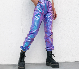 Hip Hop Streetwear Holographic Aesthetic Pants