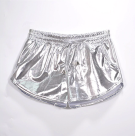 Shiny Metallic Drawstring Booty Aesthetic Shorts