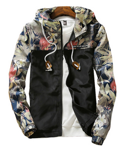 Floral Hooded Windbreaker Aesthetic Jacket