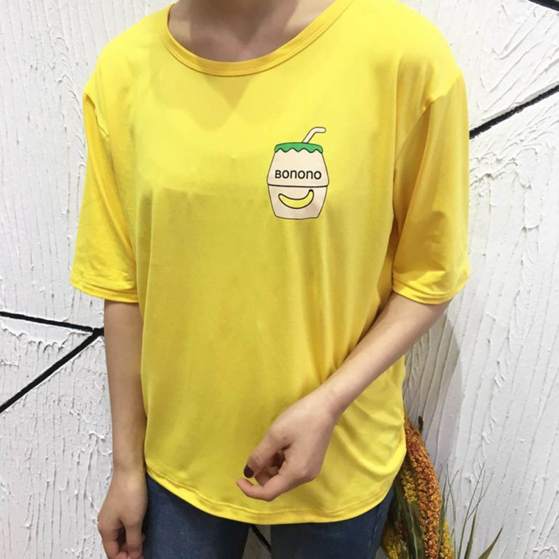 42309a2b5 ... Space Cat Shirts - Cute Banana Milk Embroidered Short Sleeve Aesthetic  T-shirts - aesthetic ...