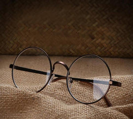 Clear Transparent Circle Round Aesthetic Glasses
