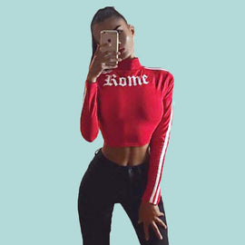 Romeo Letter aesthetic crop top