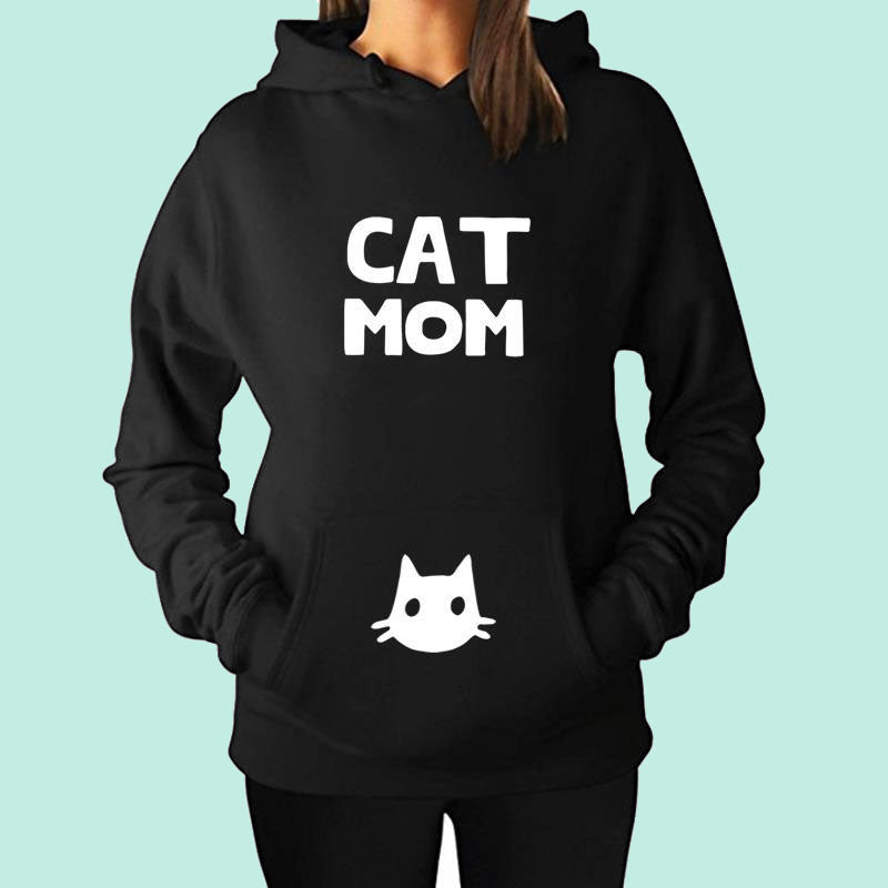 363cad3b9c6e3 Space Cat Shirts - Cat Mom Letter Print Aesthetic Hoodies - aesthetic  clothing ...