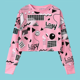Space Cat Shirts - harajuku print aesthetic crop top - aesthetic clothing