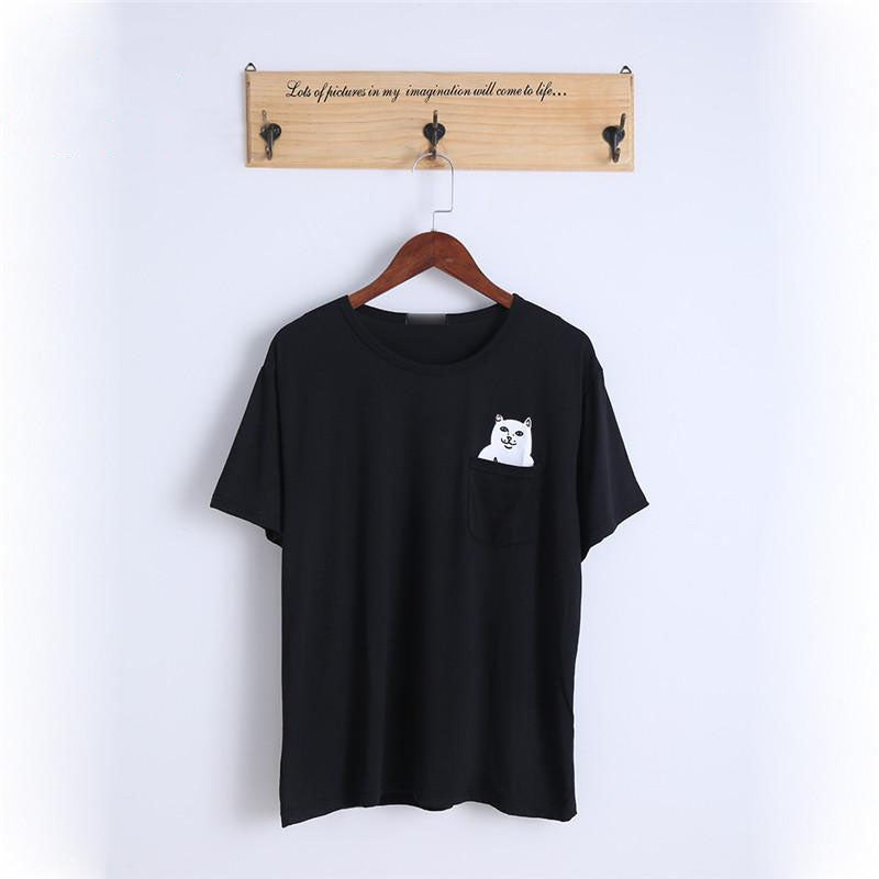 d1e708647b319 Space Cat Shirts - Middle Finger Pocket Aesthetic Cat Tshirt - aesthetic  clothing ...
