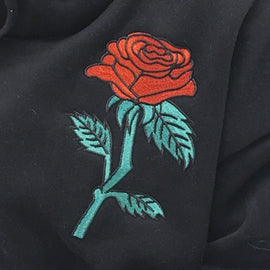 Space Cat Shirts - Embroidery roses aesthetic sweatshirt - aesthetic clothing