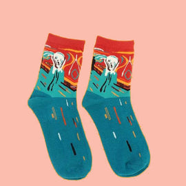 Print art socks aesthetic unisex design
