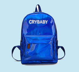 Embroidery Crybaby Hologram Laser Aesthetic Backpack