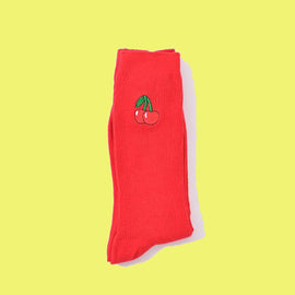 Cotton Loose Crew Retro Aesthetic  Socks