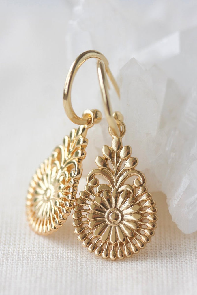 FLOURISH HOOPS - GOLD