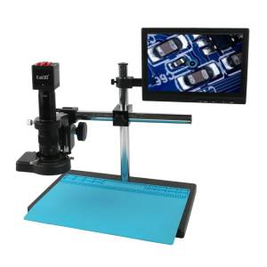 Electronic Digital Microscope with Boom Stand and Monitor