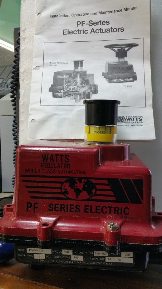 Watts PF-400 Electric Actuator