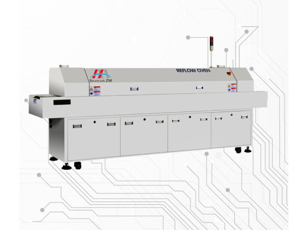 "6 Zone SMT Reflow Oven, 11.5"" Conveyor"