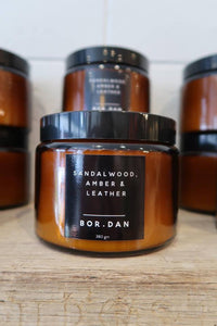SANDALWOOD AMBER + LEATHER